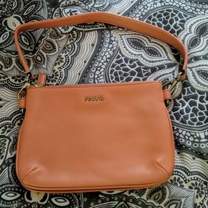 Fossil zip top memoir mini purse